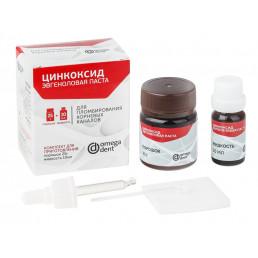 Цинкоксид Эвгеноловая паста (25 г + 10 мл) Для пломбирования корневых каналов, Омега