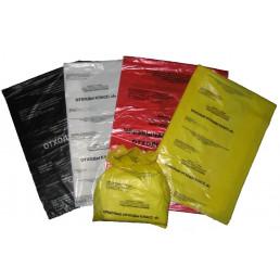 Пакет для медотходов класс Б(Желтый)  60л, 15мкн (уп 100шт+стяжки) МедКом