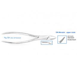 11-501 Щипцы для удаления зубов верхние, корневые