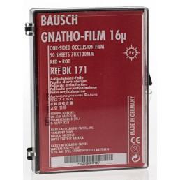 Копирка фольга BAUSH 16мик. ВК171 прямая (50 листов) красная односторонняя (100мм*70мм)