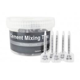 Смесители прозрачные (для карт 1:1= EsTemp, EsTemp Implant) 50шт/уп, Spident(Cement Mixing Tips)