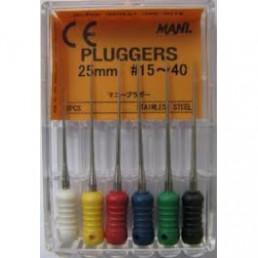 Плагер 25мм ассорти №15-40  (уп 6шт) MANI (pluggers)