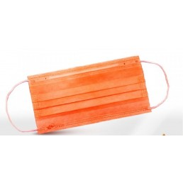 Маски на резинках Оранжевые (3шт/уп) 3-х слойные