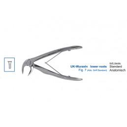 12-7B Щипцы для удаления зубов детские нижние, корневые с упором