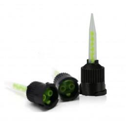 Смесители черные 1:1 зауженные (зелёная спираль) 15шт/уп IVOCLAR (для Мультилинк)