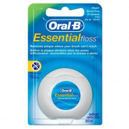 Флосс OralB Essential - зубная нить 50м (плоская, тонкая, вощеная, мятная) Procter&Gamble