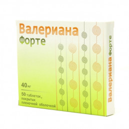 Валериана форте, таблетки 40 мг (50 шт) Озон