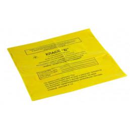 Пакет для медотходов класс Б(Желтый)  30л, 15мкн (уп 100шт +стяжки) МедКом