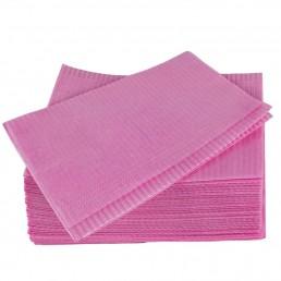 Салфетки д пациентов(нагрудники) 2-х сл Розовые  500шт Дисполенд