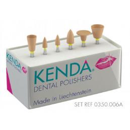 Кенда №0350.006  - набор полир. для финиш. полир. композитов и керамики (диск, конус, чашка)