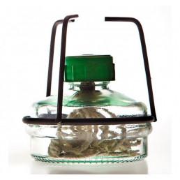 Спиртовка стекло с металл. оправой (фитиль круглый)