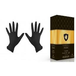 Перчатки нитрил, 100шт, ЧЕРНЫЕ Safe&Care S(6-7)