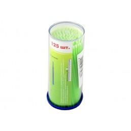 Аппликаторы ДС браш, маленькие-зеленые (S=1мм) 125шт  длинные DentalCombo