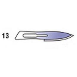 Лезвия д. скальп стерильные №13  (уп/100шт)