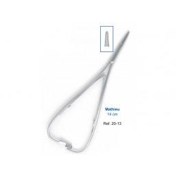 20-13 Иглодержатель хирургический прямой Mathieu, 14 см