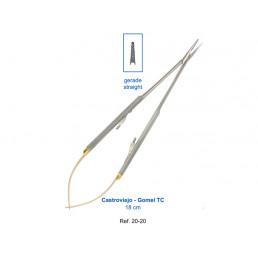 20-20 Иглодержатель микрохирургический прямой Castroviejo-Gomel TC,18 см,карбит-вольфрамовые вставки