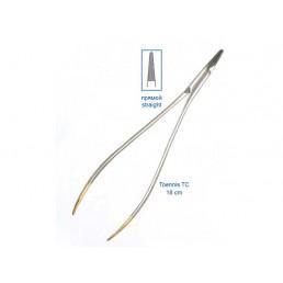 20-23 Иглодержатель хирургический прямой ToennisTC,18 см, карбит-вольфрамовые вставки, безкремальеры