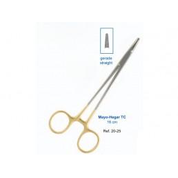 20-25 Иглодержатель хирургический прямой Mayo-Hegar TC, 16см, карбит-вольфрамовые вставки