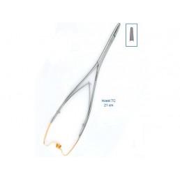 20-31 Иглодержатель хирургический прямой Hoesl TC, 21 см, карбит-вольфрамовые вставки
