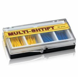 Мульти Штифт ассорти Желтые+Синие (80шт) -  беззольные штифты