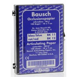 Копирка бумага BAUSH 40мик. ВК11 (дугообраз. полоски 10*7см) синяя (100листов)