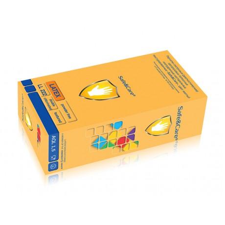 Перчатки латекс Safe&Care M(7-8) 100шт
