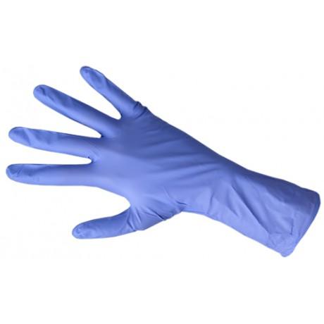 Перчатки нитрил, 100шт, Голубые DISPODENT M(7-8)