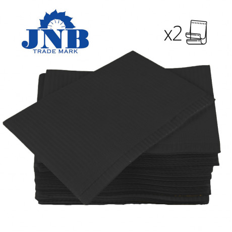 Салфетки нагрудники 2-х сл Черные (500шт) JNB