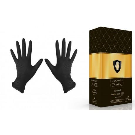 Перчатки нитрил, 100шт, Черные Safe&Care L(8-9)