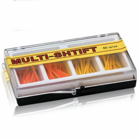 Мульти Штифт ассорти Желтые+оранжевые (80шт) -беззольные штифты Рудент